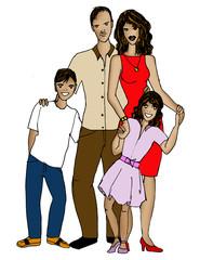 famiglia latina - serie etnica