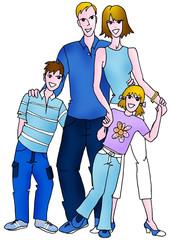 famiglia caucasica -serie etnica