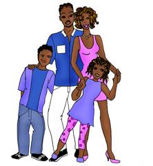 famiglia afroamericana - serie etnica