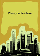 Skyscrapers with empty place for  text - illustration