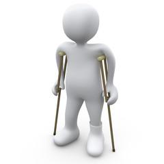 Person With Broken Foot