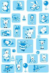 set of toys. vector illustration