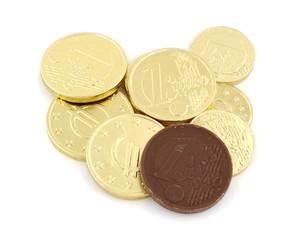 Monedas de chocolate