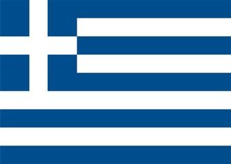 Griechenland Flagge / Flat