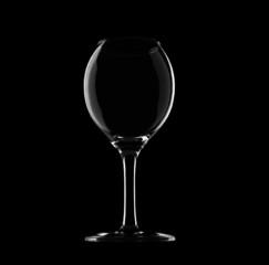 Isolated wine glasses on black background