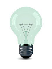 Bulb on a white background. Isolated 3D image