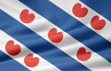 Flagge von Fryslan - Niederlande