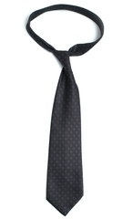 The tie is on a white background