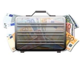 Geldkoffer transparent