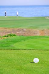 Seaside golfing