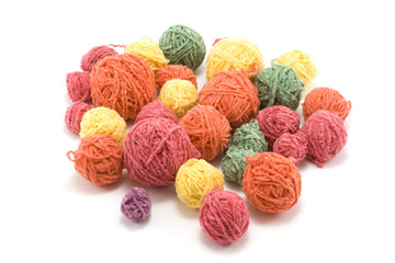 Ball of the colour threads