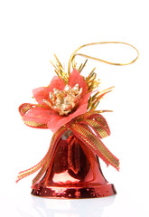 Red christmas handbell