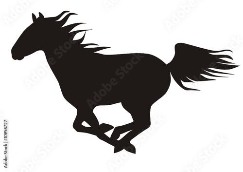 Cavallo al galoppo immagini e vettoriali royalty free su for Cavallo stilizzato