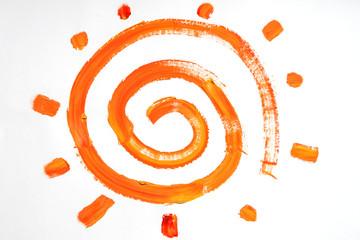 Spiral sun, kinder draw