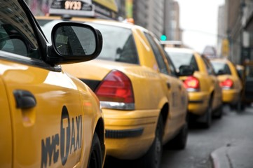 Foto auf AluDibond New York TAXI New York,Yellow Cap