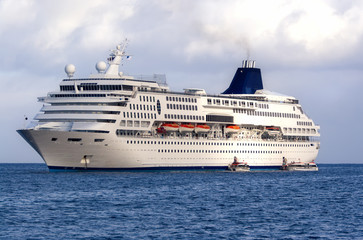 Large Cruise Ship at Sea