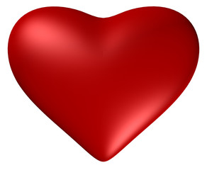 Heart with clipping path