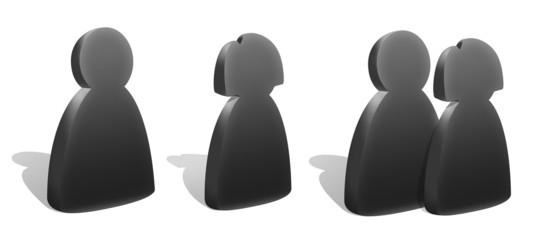 Figure silhouettes 3d