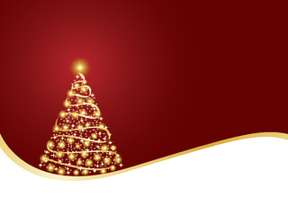 Twinkly christmas tree background