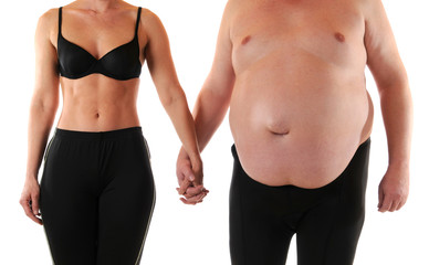 Schlank und dick