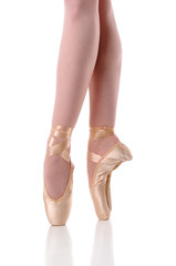Ballerina's feet Dancing on Pointe