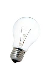 Tungsten bulb over white background
