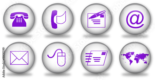 u0026quot boutons contact internet  violet  u0026quot  fotos de archivo e im u00e1genes libres de derechos en fotolia
