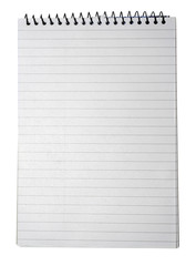 Notebook with striped paper, binder and empty page for your desi
