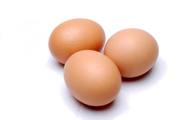 Three eggs lying down