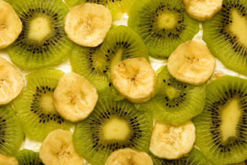 banana kiwi background