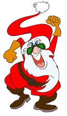 Mad Santa Claus vector