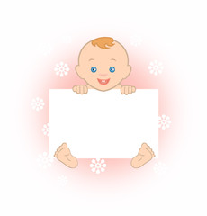Happy baby with clipboard