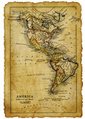 ancient map of  Usa