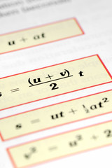 random mathematical equations closeup