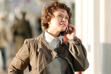 Businesswoman calling phone