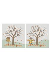 autumn scene, vector illustrations