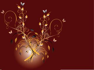 Floral Hintergrund braun Kringel