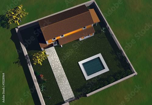 Maison vue du ciel photo libre de droits sur la banque d for Photo vue du ciel de ma maison