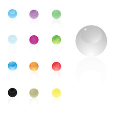 glossy shiny gel buttons ,sphere vector icon