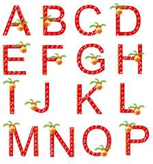 Red Christmas alphabet