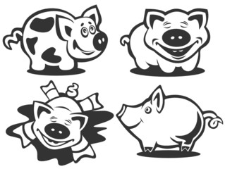 cartoon piggies