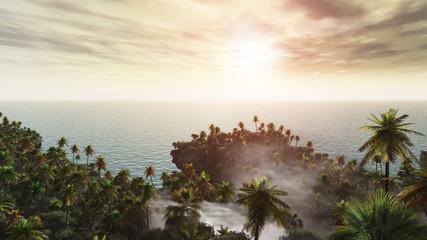 island of palm trees