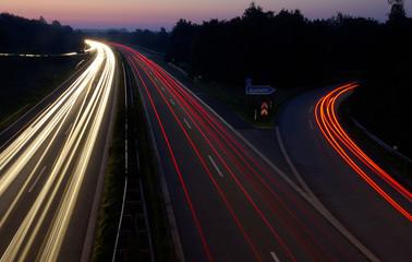 Berufsverkehr auf der A25