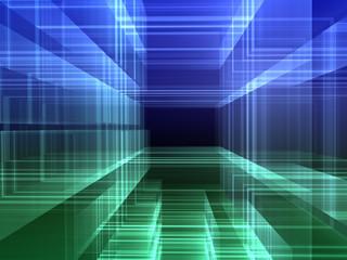 abstract digital urban luminous background