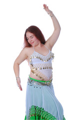 One belly dancing girl
