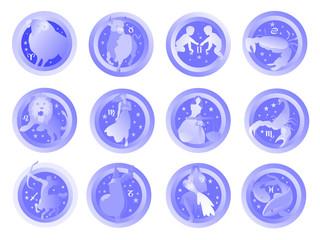 segni zodiaco azzurri