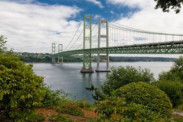 In de dag Brug Tacoma Narrows Bridge