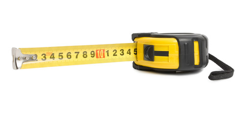 The yellow measuring tape