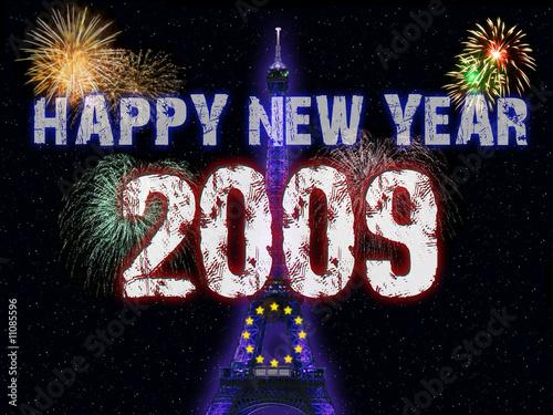 happy new year 2009 paris