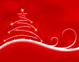 Christmas background with firtree